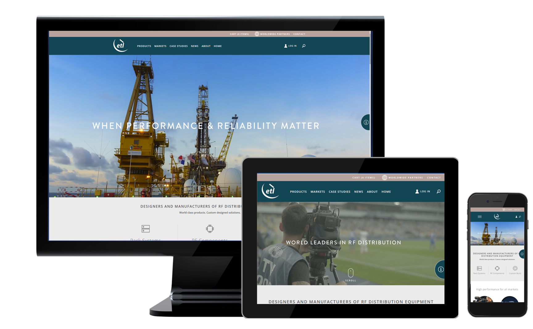 ETL's new website has responsive design