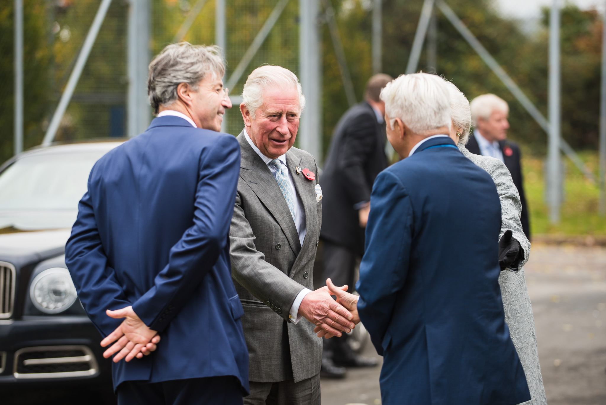 HRH Prince Charles with Mr Ian Hilditch, CEO and DR Esen Bayar, CTO
