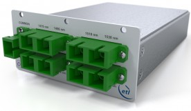 8-way Multiplexer / Demultiplexer for CWDM Fibre Optic Link / IFL - Model SRY-OCM-08-545-47