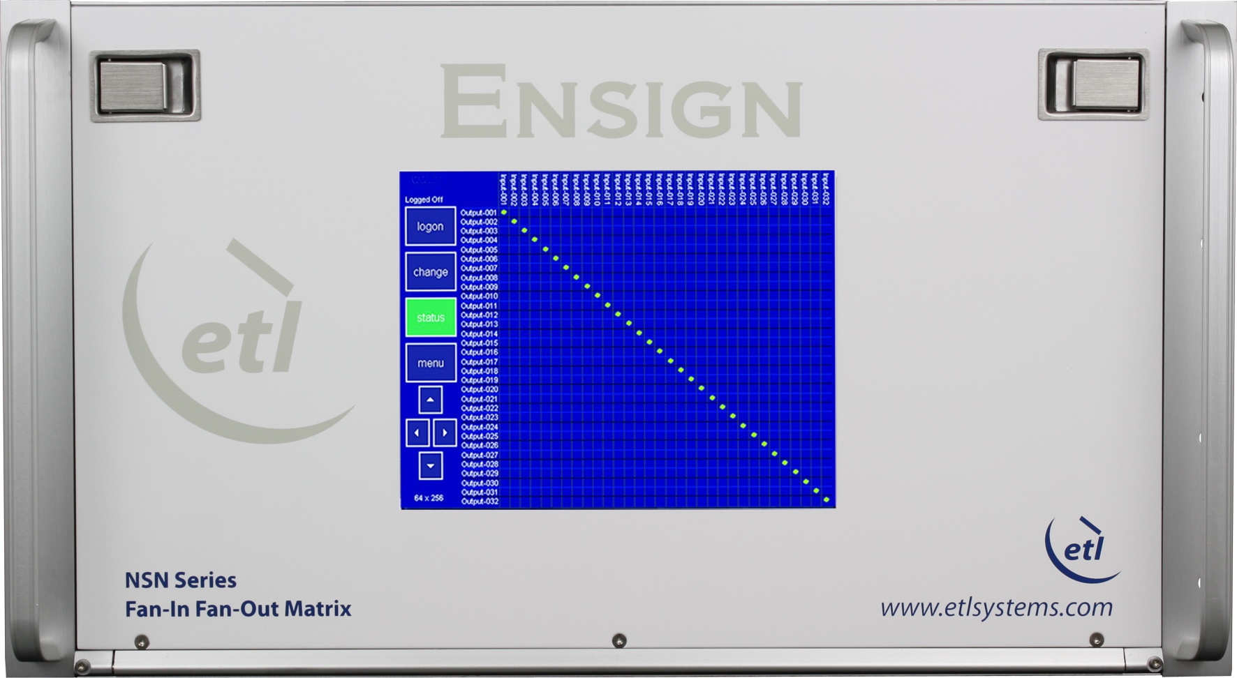 ENSIGN 32x32 Fan-in Fan-out (FIFO) Extended L-band Matrix with variable gain - Model NSN-15-xxxx