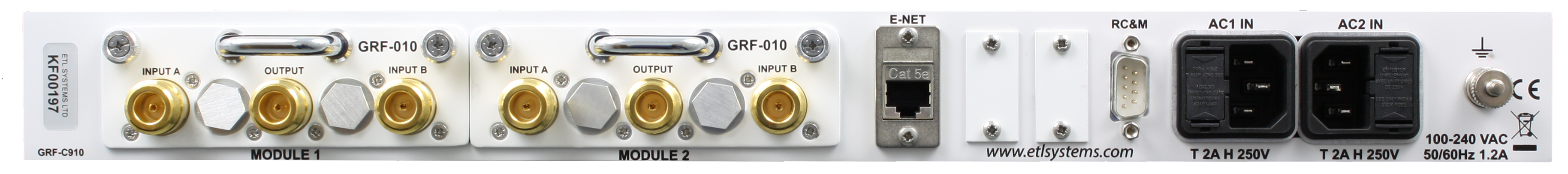 Griffin Redundancy Switch Chassis L-band & RF SPTD options 1 x 2 & 2 x 1 - GRIFFIN