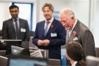 HRH Prince Charles visits the engineering department at ETL Systems