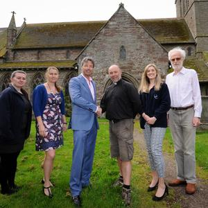ETL Systems donate to Madley Church restoration