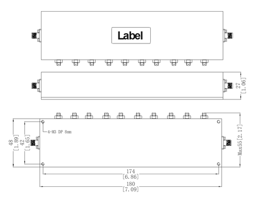 L-band Bandpass Filter