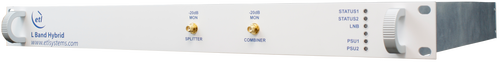 L-band VSAT TX-RX Hybrid Splitter & Combiner 4 Way with LNB Powering, BUC powering and 10MHz Source